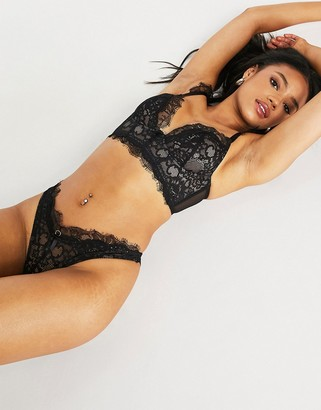 Ann Summers Beloved lace thong in black