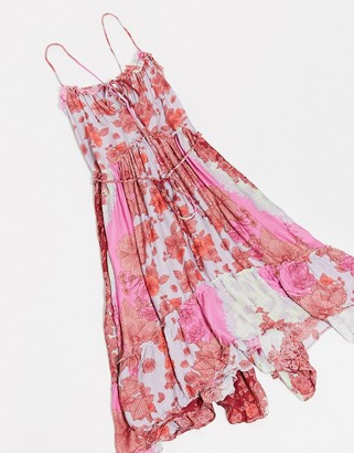 Free People summer storm slip dress in pink