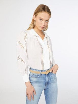 Frame Panel Lace Button Up