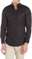 Emporio Armani Black Long Sleeve Sport Shirt