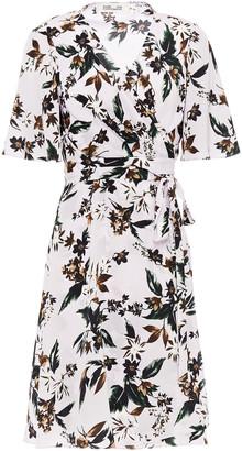 Diane von Furstenberg Kathy Floral-print Silk Crepe De Chine Wrap Dress