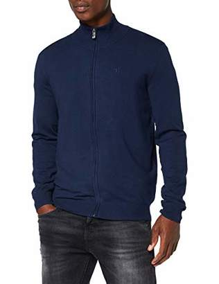 Trussardi Jeans Men's High Collar Full Zip Slim Fit Jumper,Small