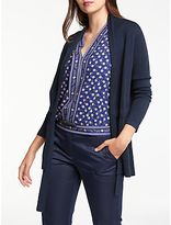Max Studio Tie Waisted Cardigan, Dark Navy