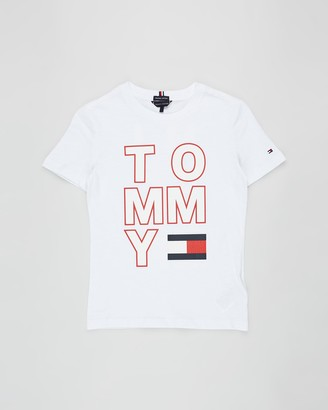 Tommy Hilfiger Multi Application Short Sleeve Tee - Teens