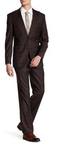 English Laundry Check Two Button Peak Lapel Wool Trim Fit Suit
