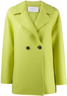 Harris Wharf London Double-Breasted Felt Coat