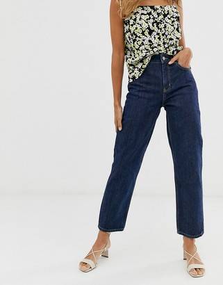 And other stories & straight leg jeans in dark blue