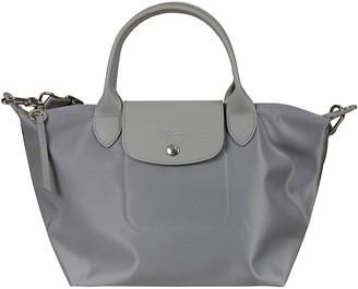 Longchamp Detachable Strap Flap Lock Tote