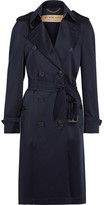 Burberry Denverhil Silk-satin Trench Coat - Navy