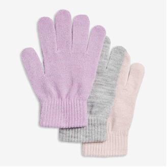 Joe Fresh Kid Girls' 3 Pack Knit Gloves, Lavender (Size O/S)
