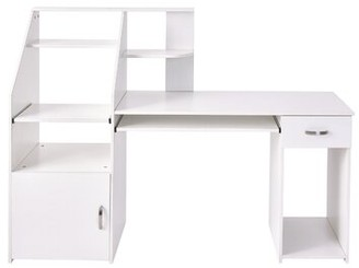 Multi-Functions Desk with Hutch Ebern Designs Color: White
