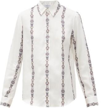 Gabriela Hearst Henri Printed Silk Shirt - White Multi