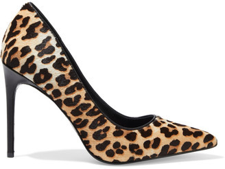 Alice + Olivia Creda Leopard-print Calf Hair Pumps