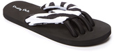 Black Zebra Spa Flip Flop