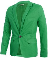 uxcell® Men Slim Fit Notched Lapel Single Button Closure Casual Blazer M
