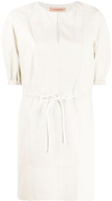 Yves Salomon Puff Sleeve Mini Dress