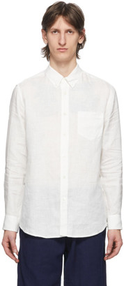 Blue Blue Japan White Linen Button-Down Shirt
