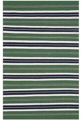 Lauren Ralph Lauren Leopold Stripe Handwoven Flatweave Green/Black Area Rug Rug Size: Rectangle 4' x 6'