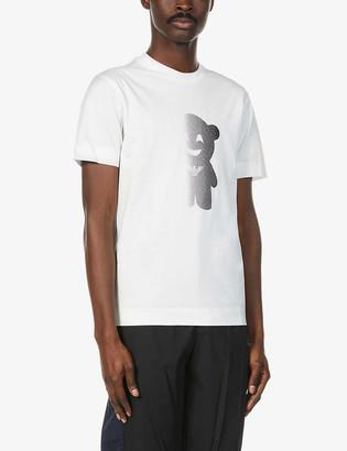 Emporio Armani Graphic-print cotton-jersey T-shirt