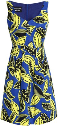 Boutique Moschino Printed Cotton-blend Jacquard Dress