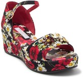 Dolce & Gabbana Floral & Daisy Wedge Sandal (Toddler, Little Kid, & Big Kid)