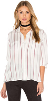 David Lerner Draped Silk Blouse