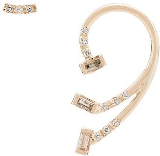 Xiao Wang 14Kt yellow gold gravity diamond earrings