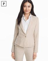 White House Black Market Petite Vita Lace-Up Detail Suiting Jacket