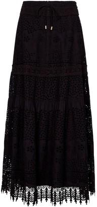 Melissa Odabash Alessia lace cotton maxi skirt