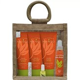 California Mango Essential Hand & Body Care Kit in Jute Bag, 7 Count