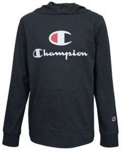 "Champion ""C"" Script Big Boys Hooded Jersey Tee"