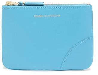 Comme des Garcons Logo-embossed Leather Coin Purse - Womens - Blue