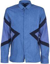 Neil Barrett Symmetric Triangular Print Shirt