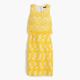 J.Crew Collection tiered dress in warm sun Austrian lace