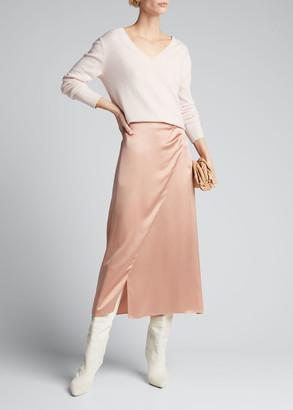 Vince Side Pleat Wrap Skirt