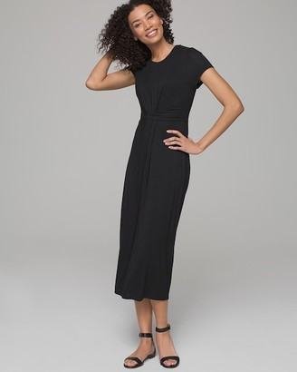 Soft Twisted Dress with Built-In Shelf Bra