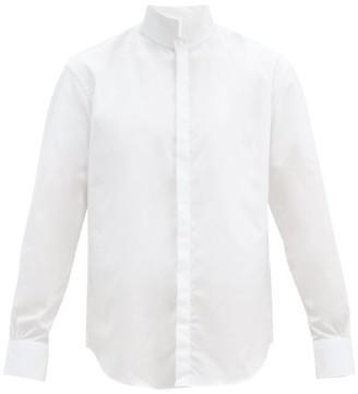 Bourrienne Paris X - Nuptiale High-neck Cotton-poplin Shirt - White