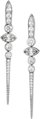 Adriana Orsini Silvertone & Cubic Zirconia Dagger Drop Earrings