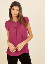 Charmer in Charge Top in Raspberry in L