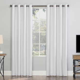 Sun Zero Array Woven Dobby Draft Shield Fleece Insulated 100% Blackout Grommet Window Curtain