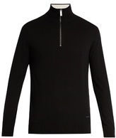 Burberry Half-zip cashmere sweater