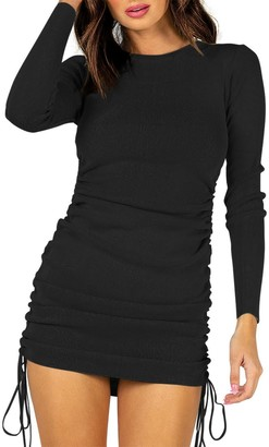 Steve Madden Long Sleeve Mini Dress Black