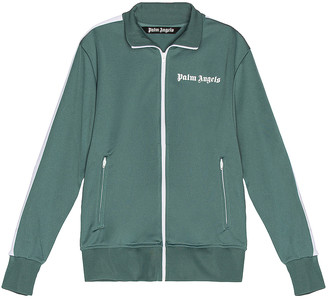 Palm Angels Classic Track Jacket in Pine Green & White | FWRD