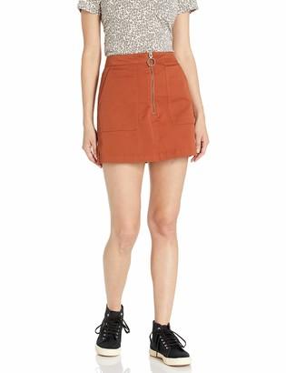 Volcom Women's Frochickie Front Zipper Mini Skirt