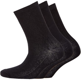 S.O.H.O New York Womens Collection Three Pack Socks Black