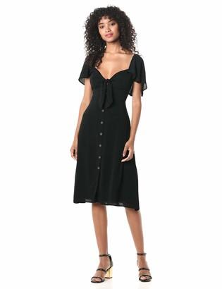 ASTR the Label Women's Rachelle Cap Sleeve Lemon Print Retro MIDI Dress