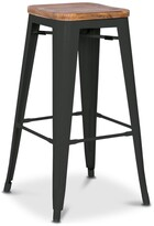 Apt2B Grand Metal Counter Stool BLACK - SET OF 4