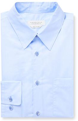 Gabriela Hearst Light-blue Reyes Slim-fit Cotton-chambray Shirt - Blue