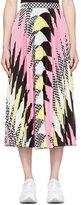 MSGM Argyle Pleated Skirt Multi