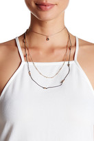 Stephan & Co 3 Row Cord Necklace